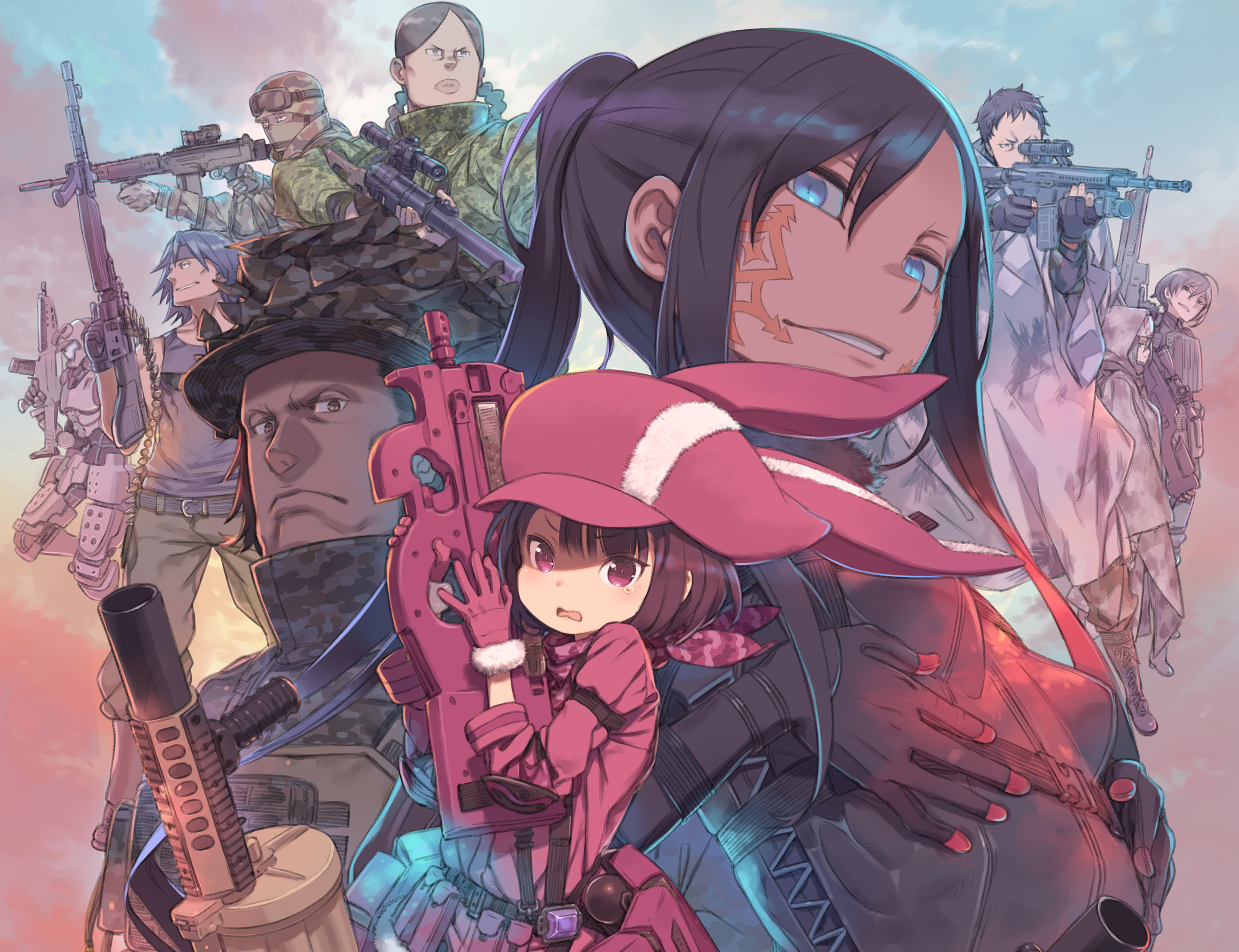 Sword Art Online Alternative Gun Gale Online Hd Wallpaper
