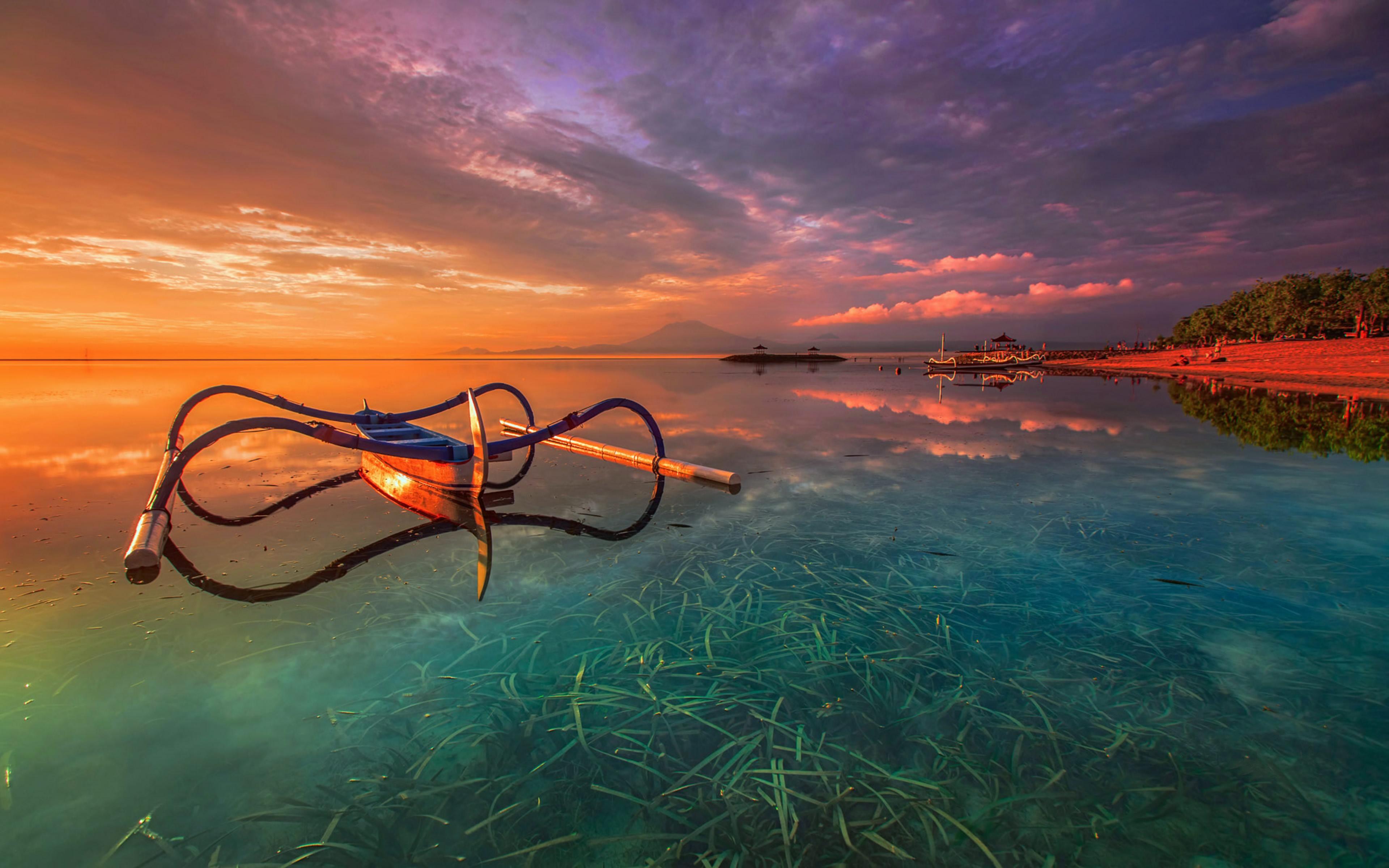 Sunset In Bali Indonesia 4k Ultra Fondo De Pantalla Hd