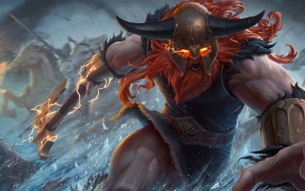 Videojuego League Of Legends Olaf Vikingo Fondo de pantalla HD | Fondo de Escritorio