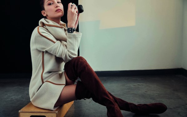 Celebrity Bella Hadid Models United States Camera Wristwatch Boots HD Wallpaper   Background Image