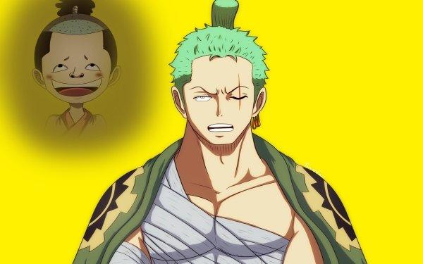 Anime One Piece Roronoa Zoro Kozuki Momonosuke HD Wallpaper   Background Image