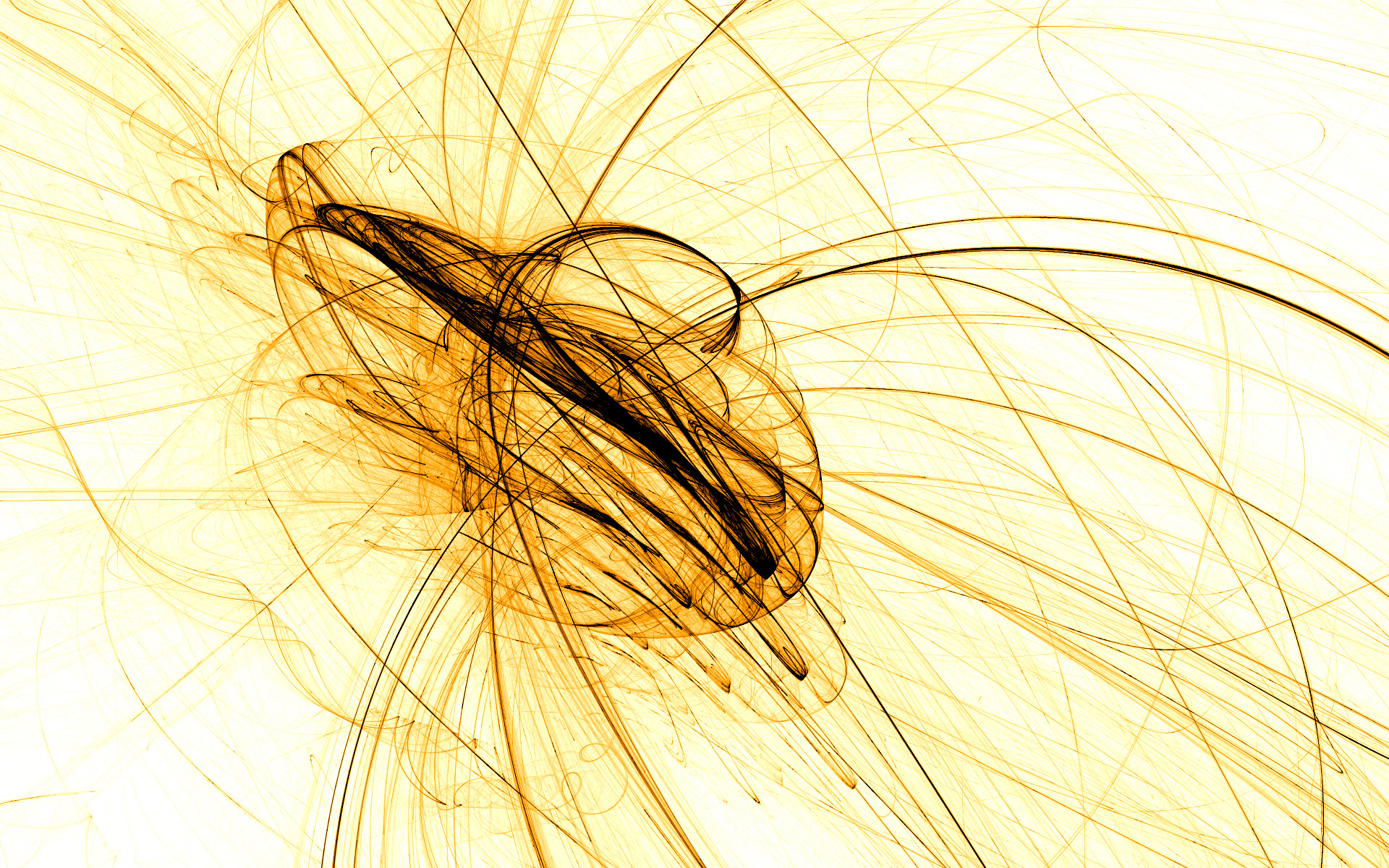 Abstract - Yellow  Abstract Energy Lines Wallpaper