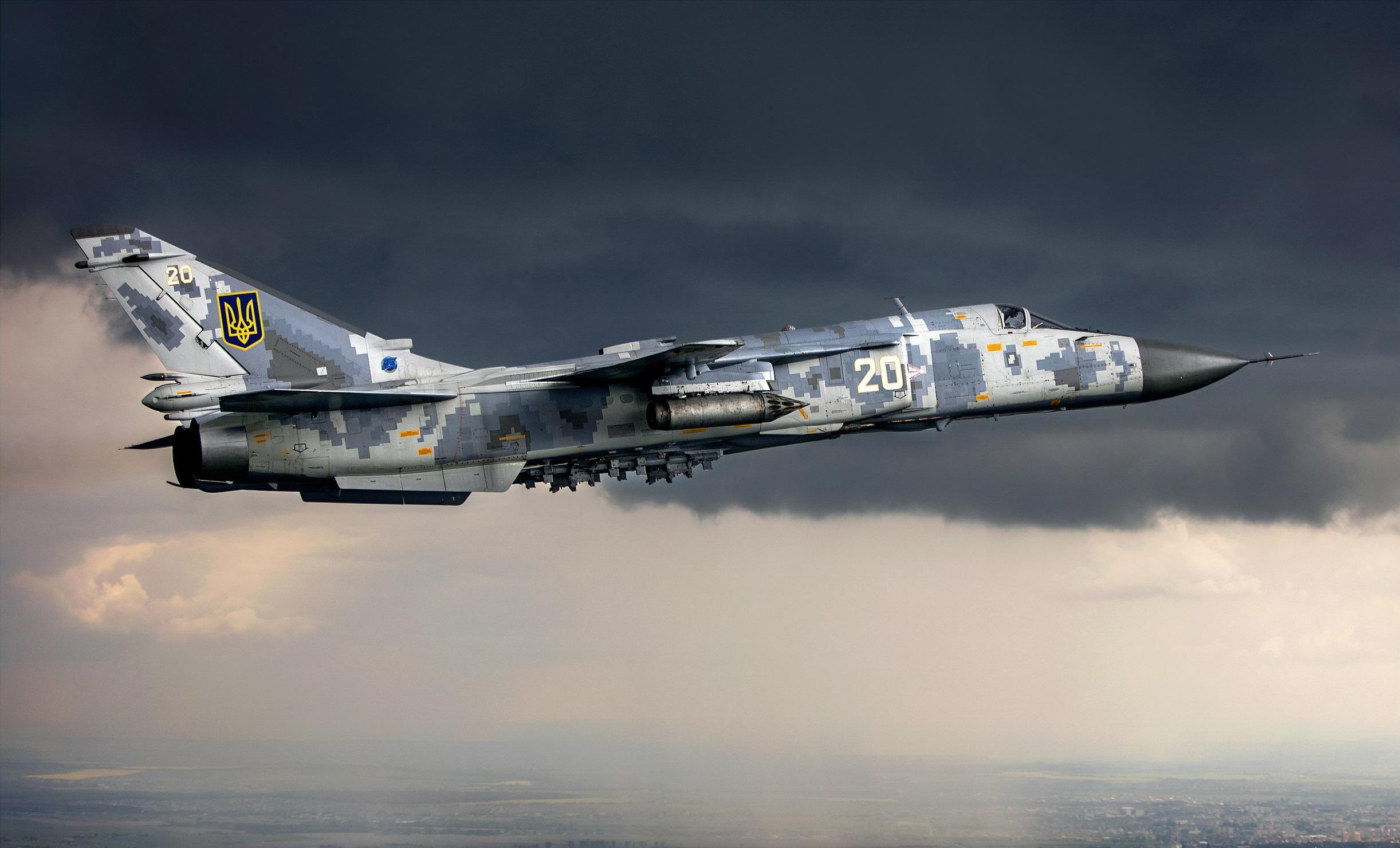 Sukhoi Su-24 Ukrainian Air Force HD Wallpaper | Background