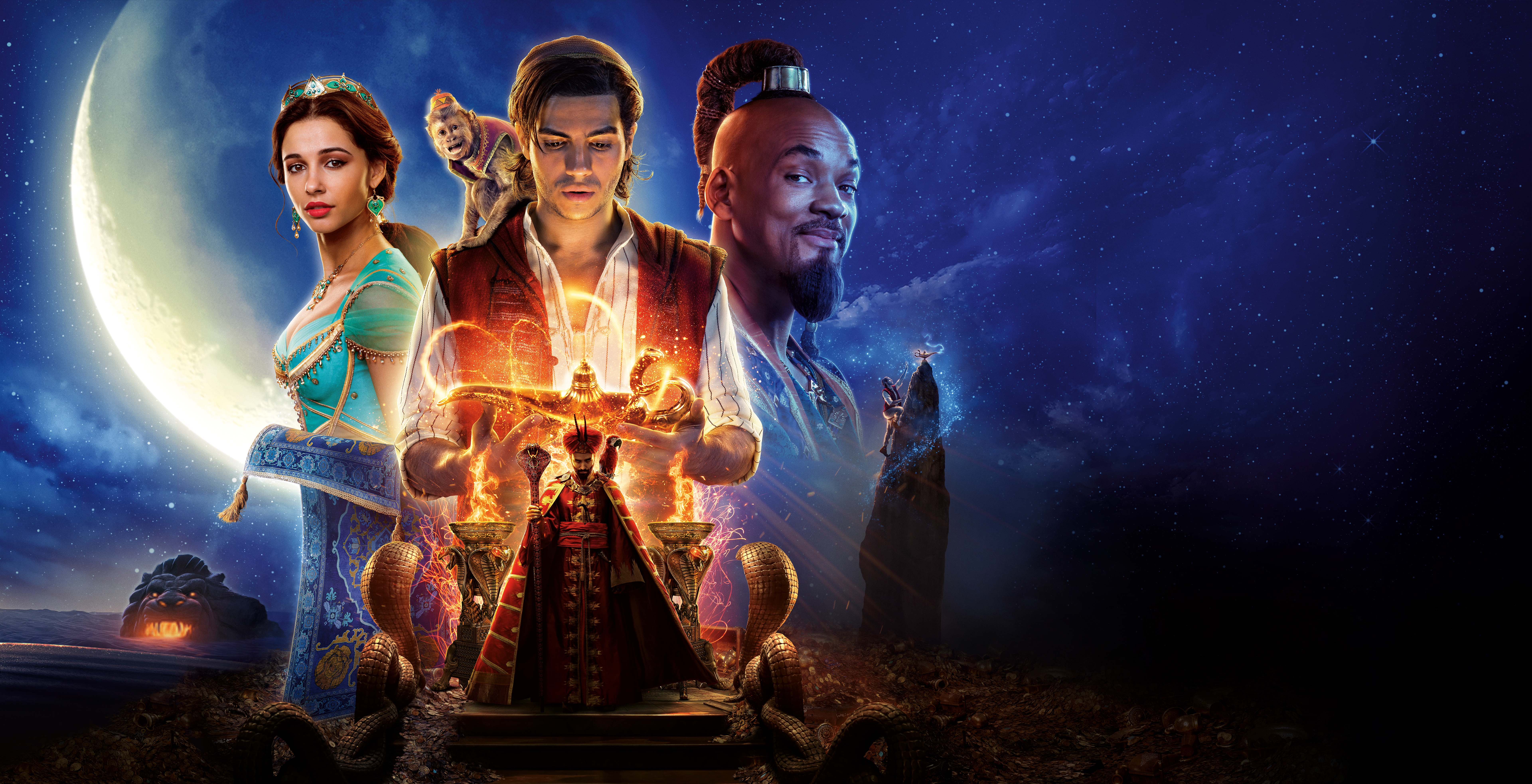 Aladdin 2019 5k Retina Ultra Hd обои фон 7680x3934