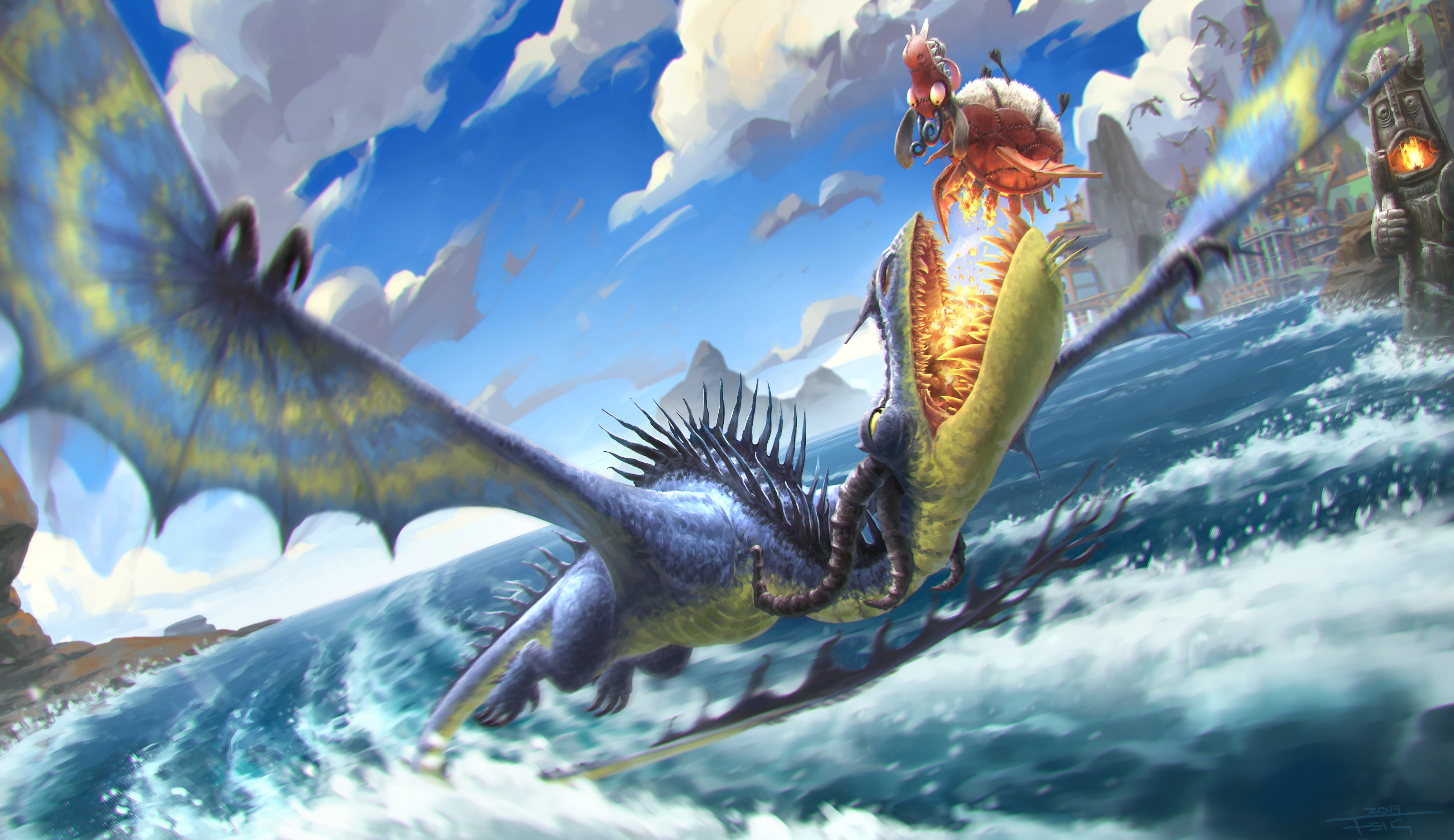 How To Train Your Dragon 4k Ultra Hd Wallpaper Background Image