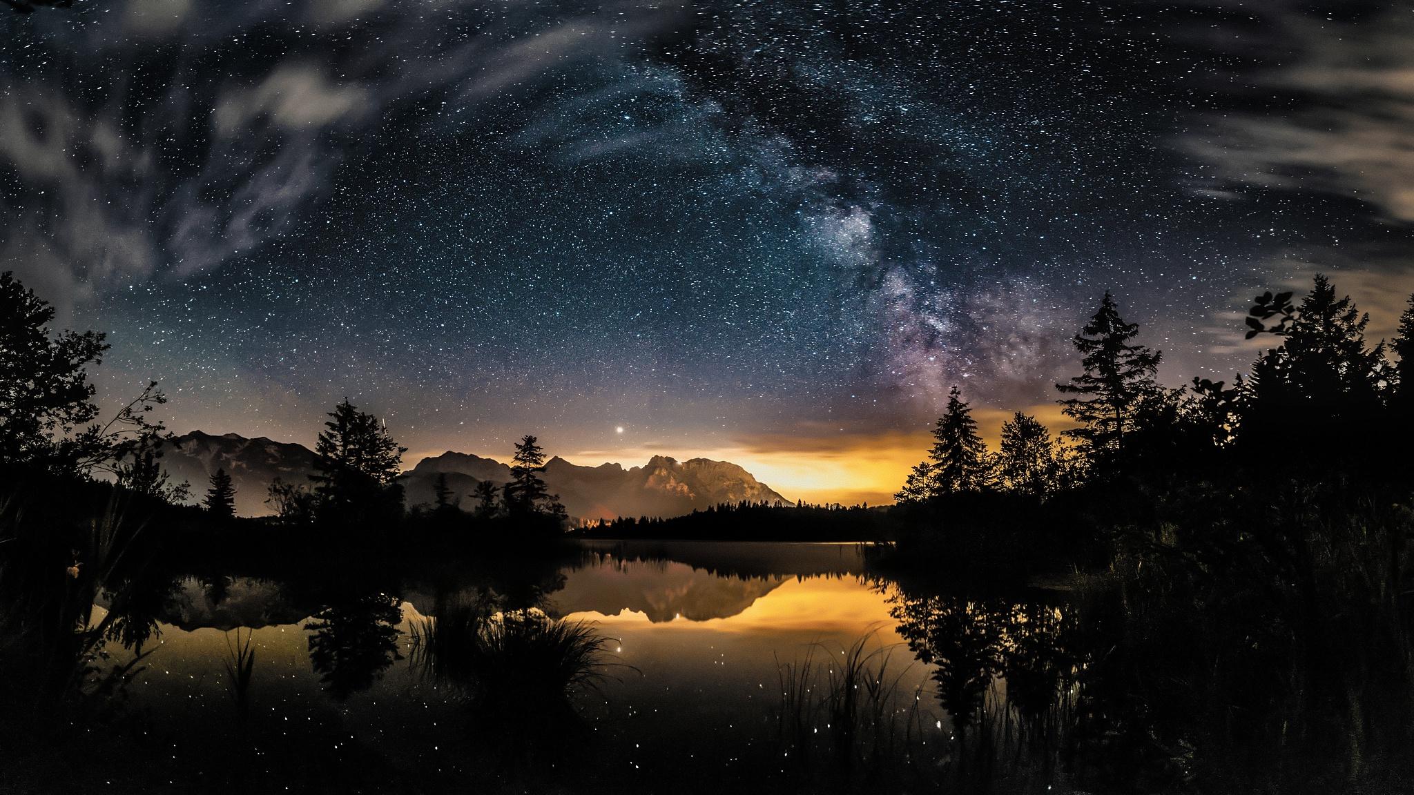 Night Hd Wallpaper Background Image 2048x1152 Id
