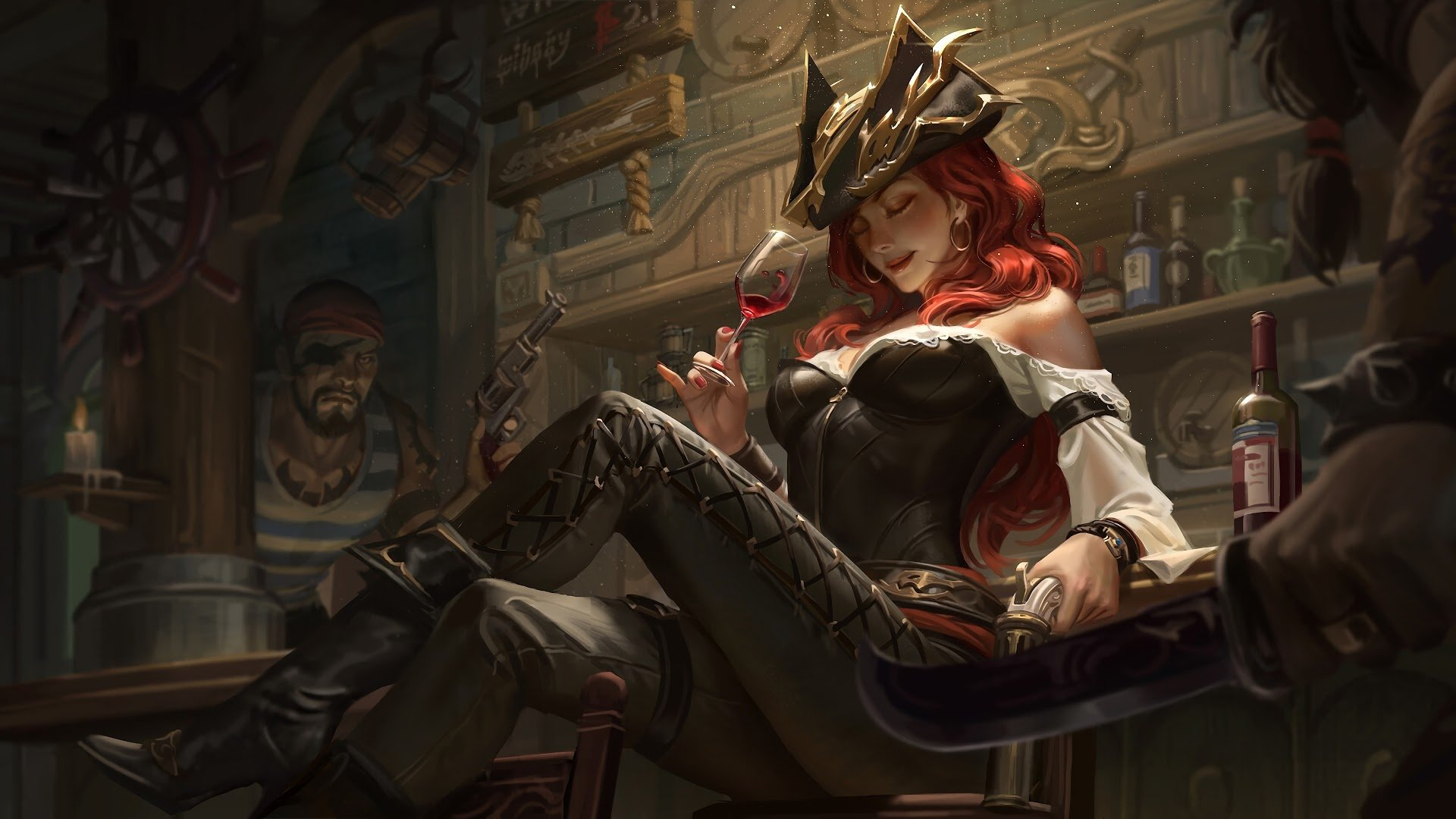 Classic Miss Fortune Hd Wallpaper Background Image 1920x1080