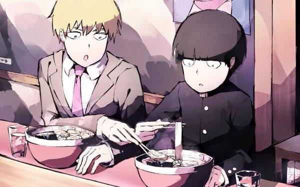 Anime Mob Psycho 100 Arataka Reigen Shigeo Kageyama HD Wallpaper | Background Image
