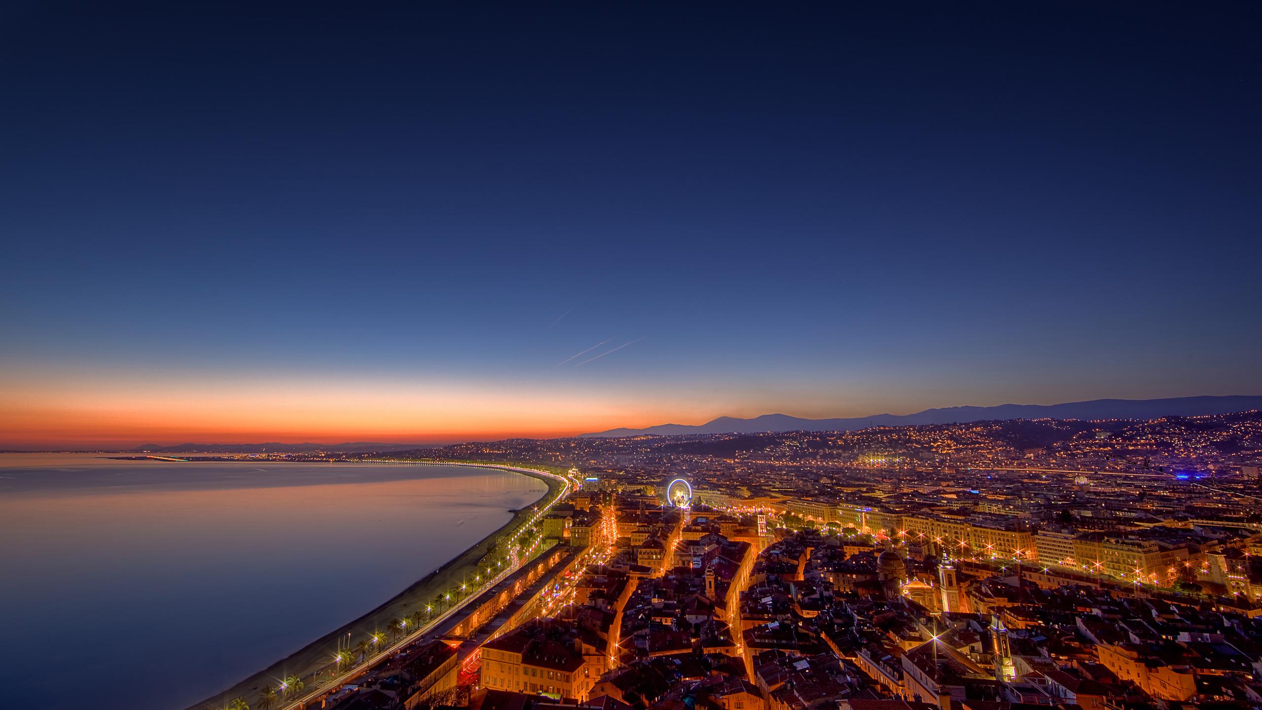 Cote D'Azur Coucher De Soleil Full HD Wallpaper And
