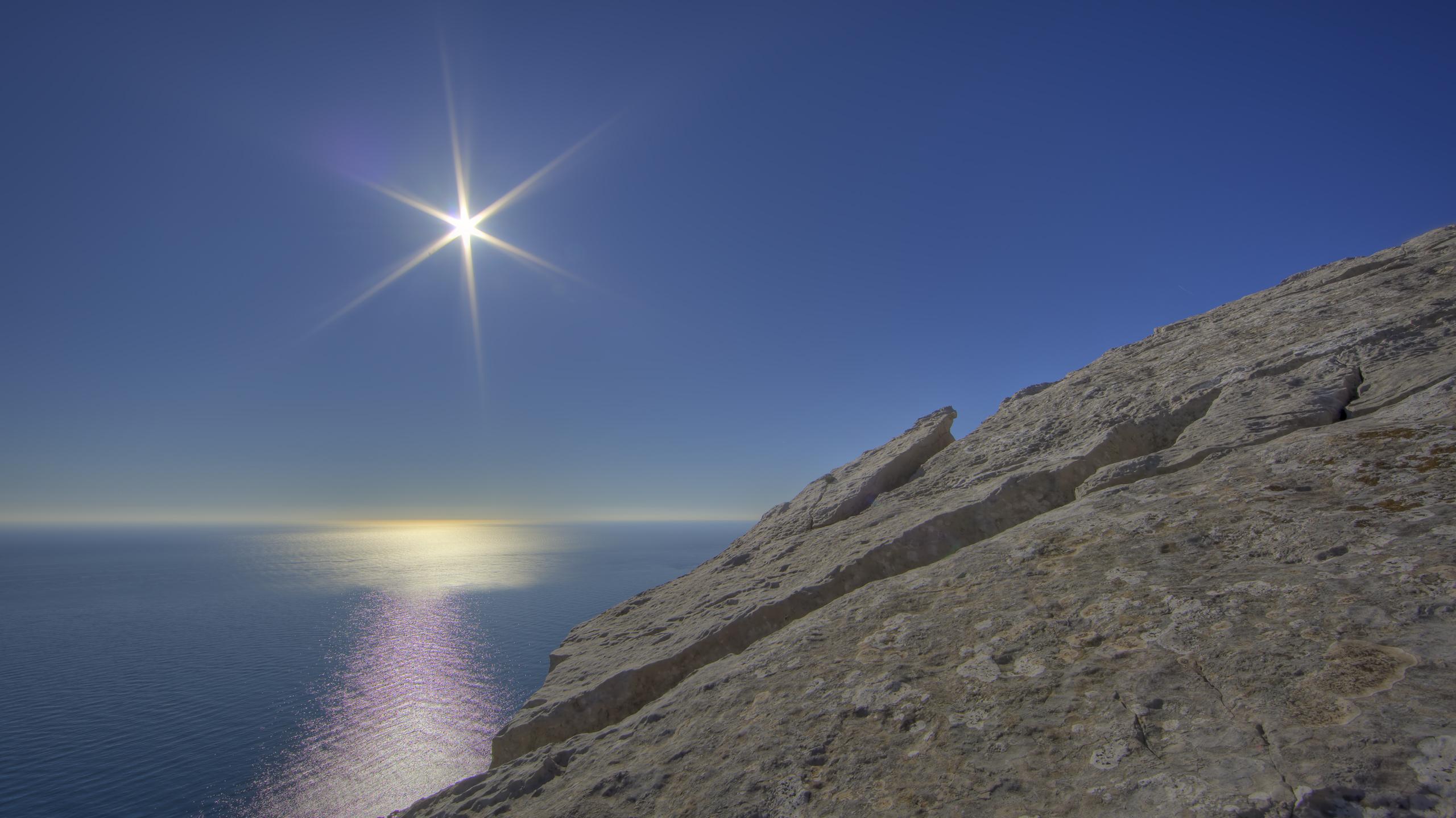 Earth - Ocean  Star Rock Landscape Wallpaper