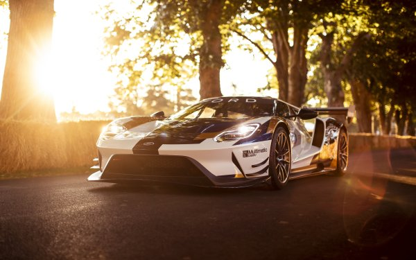 Vehicles Ford GT Mk II Ford Ford GT Car White Car Sport Car Race Car HD Wallpaper | Background Image