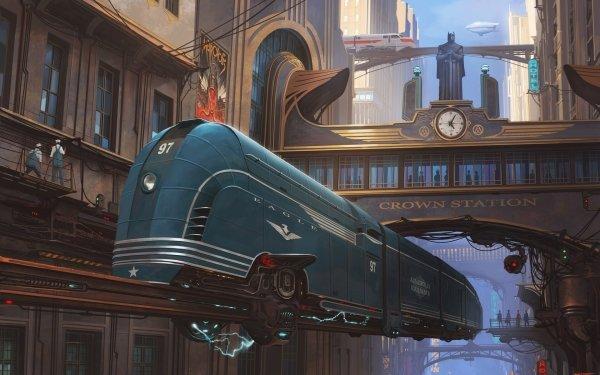 Sci Fi Vehicle Locomotive Train Futuristic HD Wallpaper   Background Image