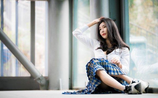 Women Asian Woman Model Black Hair HD Wallpaper | Background Image