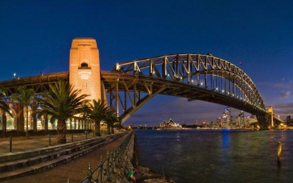 Man Made Sydney Harbour Bridge Bridges HD Wallpaper   Background Image