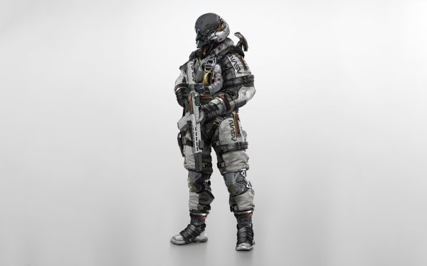 Sci Fi Astronaut Soldier Weapon HD Wallpaper | Background Image