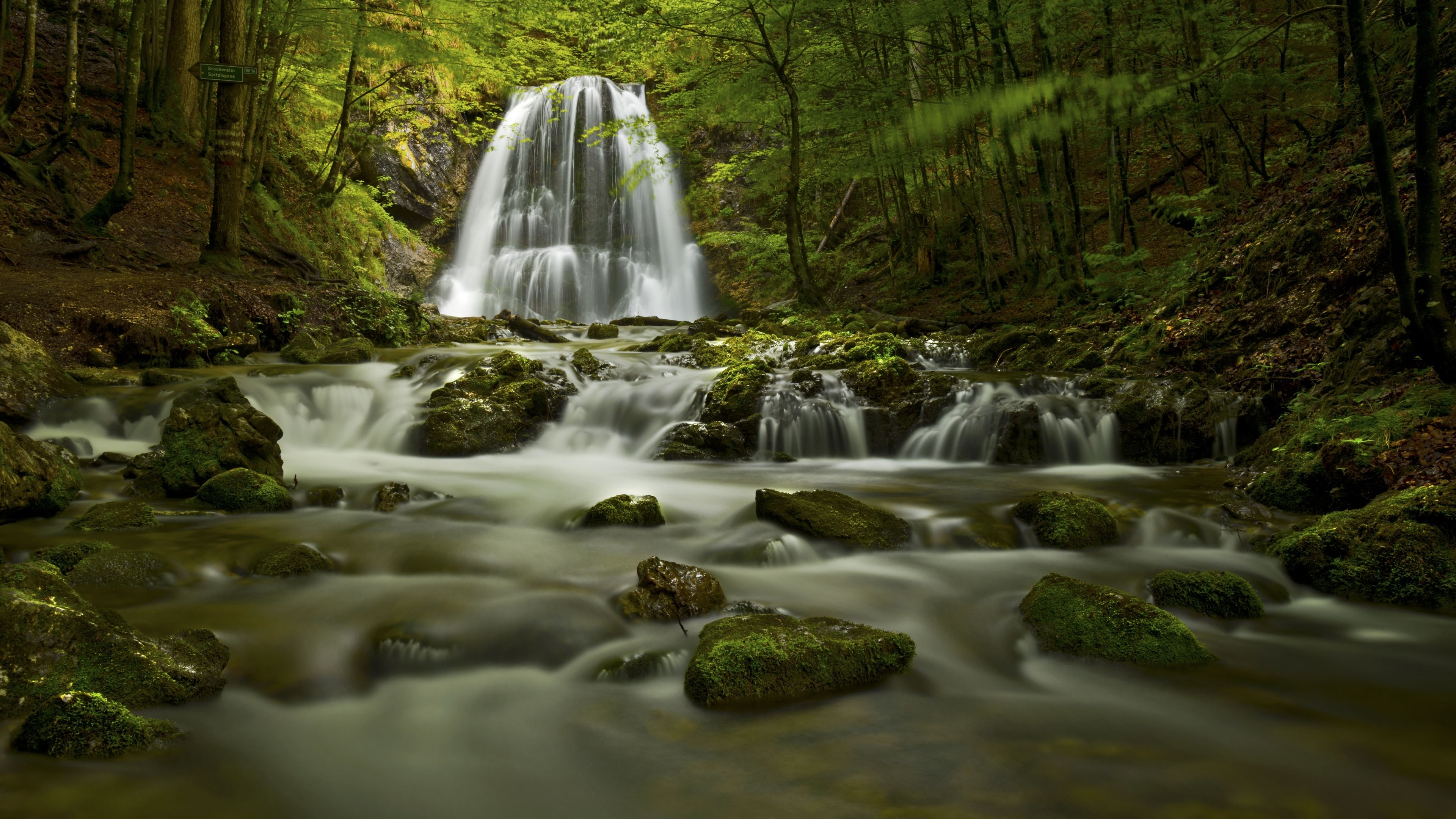 Wasserfall 4k Ultra Hd Wallpaper Hintergrund 3840x2160