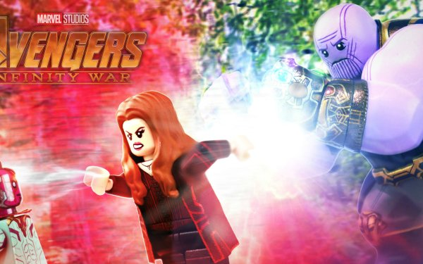 Products Lego Vision Scarlet Witch Thanos Avengers: Infinity War HD Wallpaper | Background Image