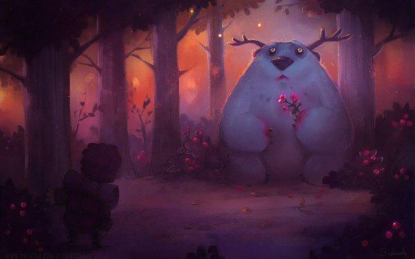 Fantasy Animal Fantasy Animals Forest HD Wallpaper | Background Image