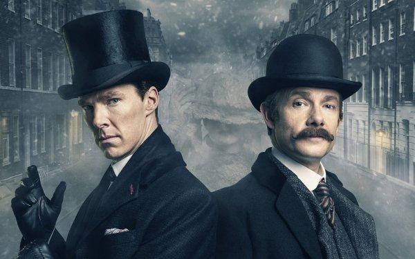 Movie Sherlock: The Abominable Bride Benedict Cumberbatch Martin Freeman Hat English Actor HD Wallpaper | Background Image