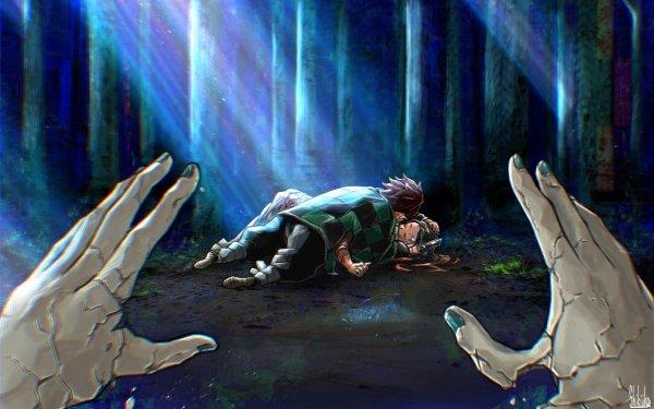 Anime Demon Slayer: Kimetsu no Yaiba Tanjiro Kamado Nezuko Kamado HD Wallpaper | Background Image