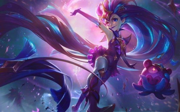 Video Game League Of Legends Zoe Heterochromia Star Guardians HD Wallpaper | Background Image