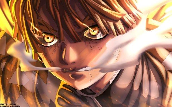 Anime Demon Slayer: Kimetsu no Yaiba Zenitsu Agatsuma HD Wallpaper   Background Image