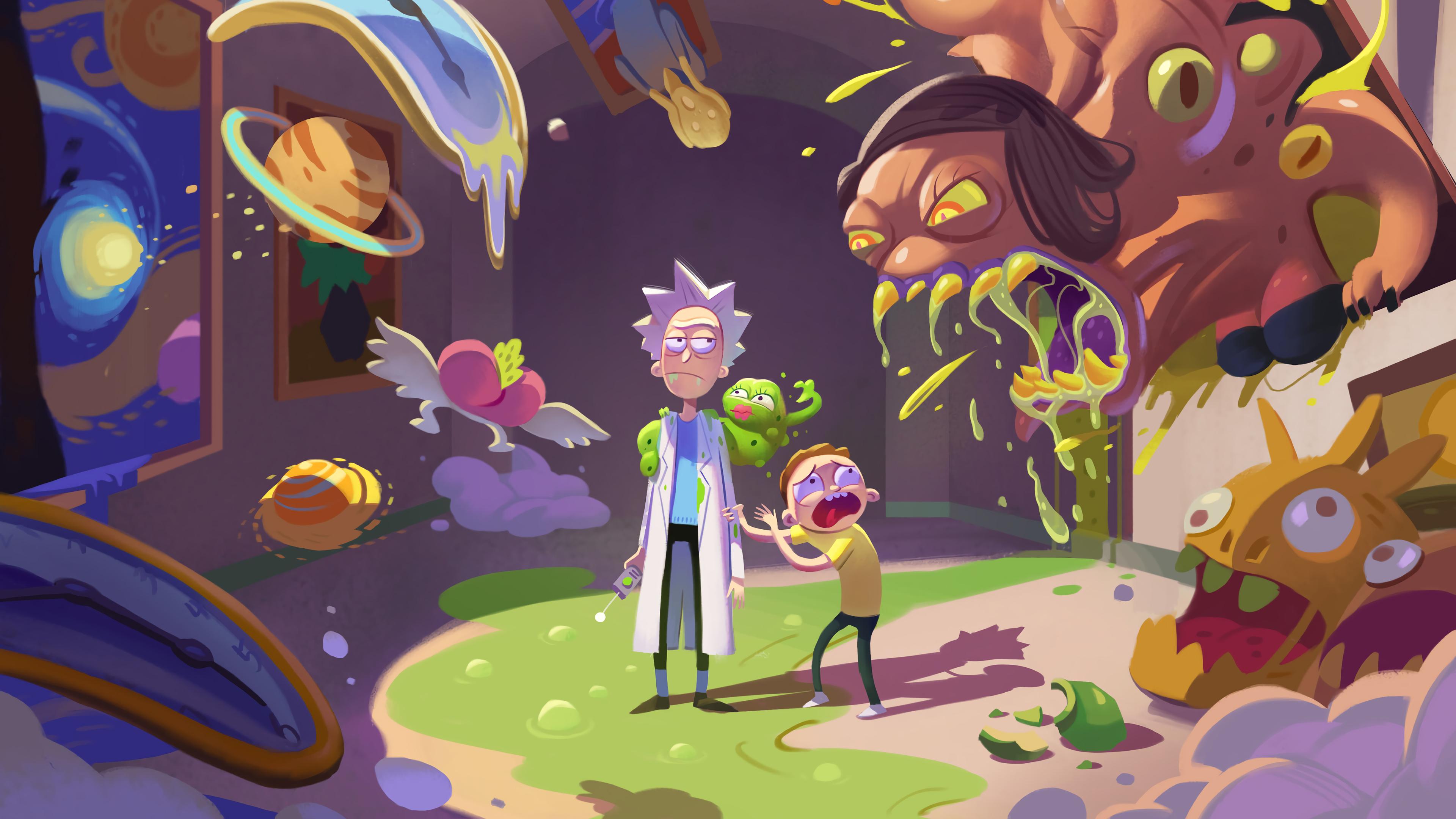 Rick Y Morty 4k Ultra Fondo De Pantalla Hd Fondo De