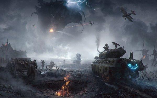 Sci Fi Battle World War I Monster HD Wallpaper   Background Image