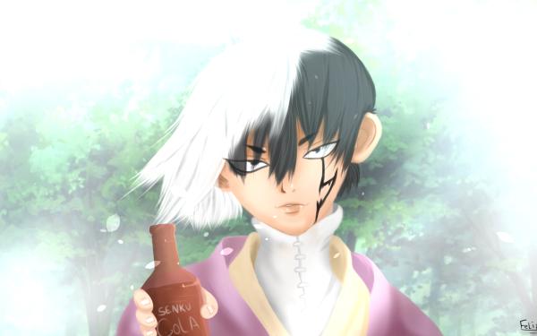Anime Dr. Stone Gen Asagiri HD Wallpaper | Background Image