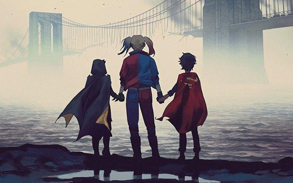 Comics DCeased Harley Quinn DC Comics Robin Superboy Jon Kent Damian Wayne HD Wallpaper   Background Image