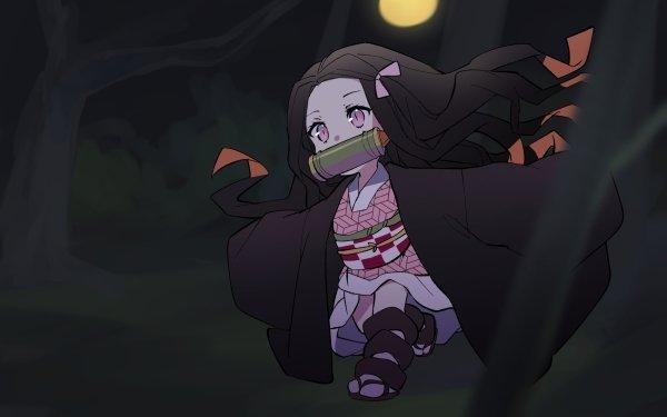 Anime Demon Slayer: Kimetsu no Yaiba Nezuko Kamado HD Wallpaper | Background Image