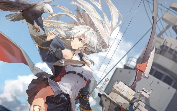 Anime Azur Lane Enterprise Eagle White Hair Uniform HD Wallpaper | Background Image