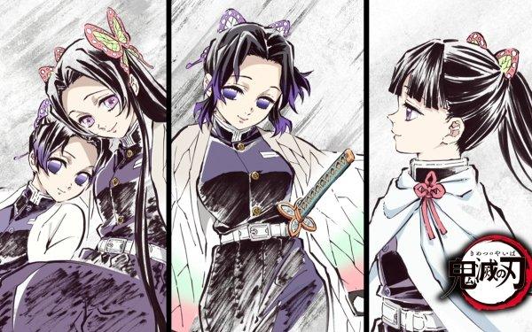 Anime Demon Slayer: Kimetsu no Yaiba Kanao Tsuyuri Shinobu Kochou Kanae Kocho HD Wallpaper   Background Image
