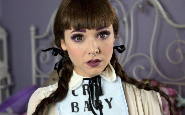 Music Melanie Martinez Singers United States American Singer Lipstick Braid HD Wallpaper | Background Image