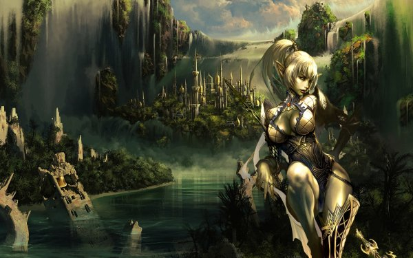 Video Game Lineage Elf HD Wallpaper   Background Image