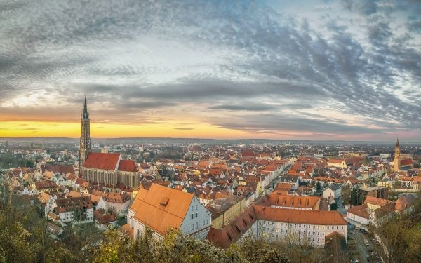 Man Made Town Towns Bavaria Germany HD Wallpaper | Background Image