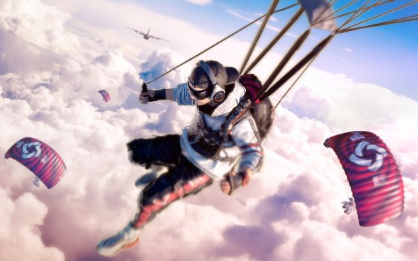 Jeux Vidéo PlayerUnknown's Battlegrounds Parachuting Fond d'écran HD | Image