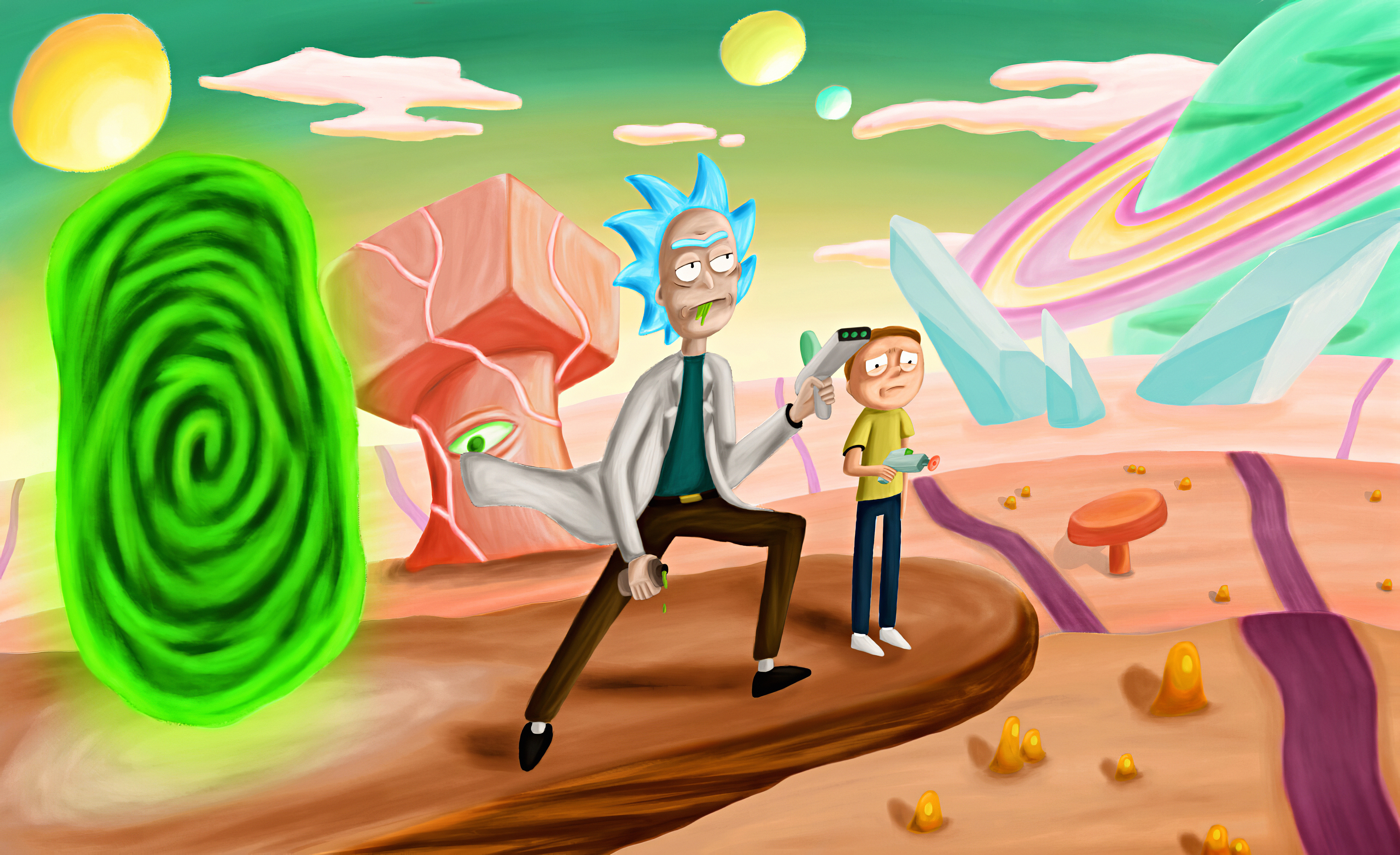 Rick And Morty 4k Ultra Hd Wallpaper Background Image