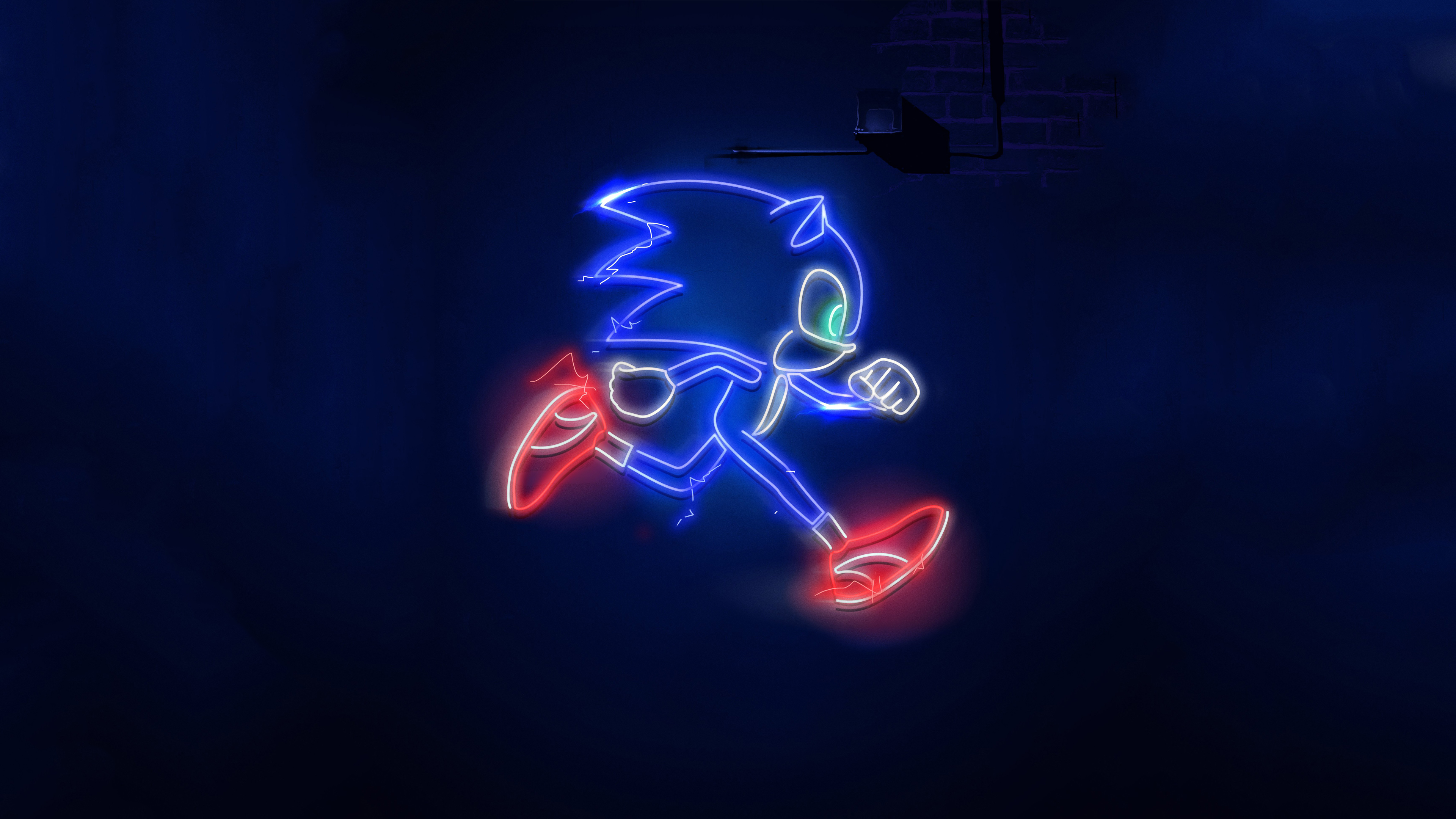 Sonic The Hedgehog Neon Sign 4k Ultra Hd Wallpaper Background Image 3840x2160 Id 1059959 Wallpaper Abyss