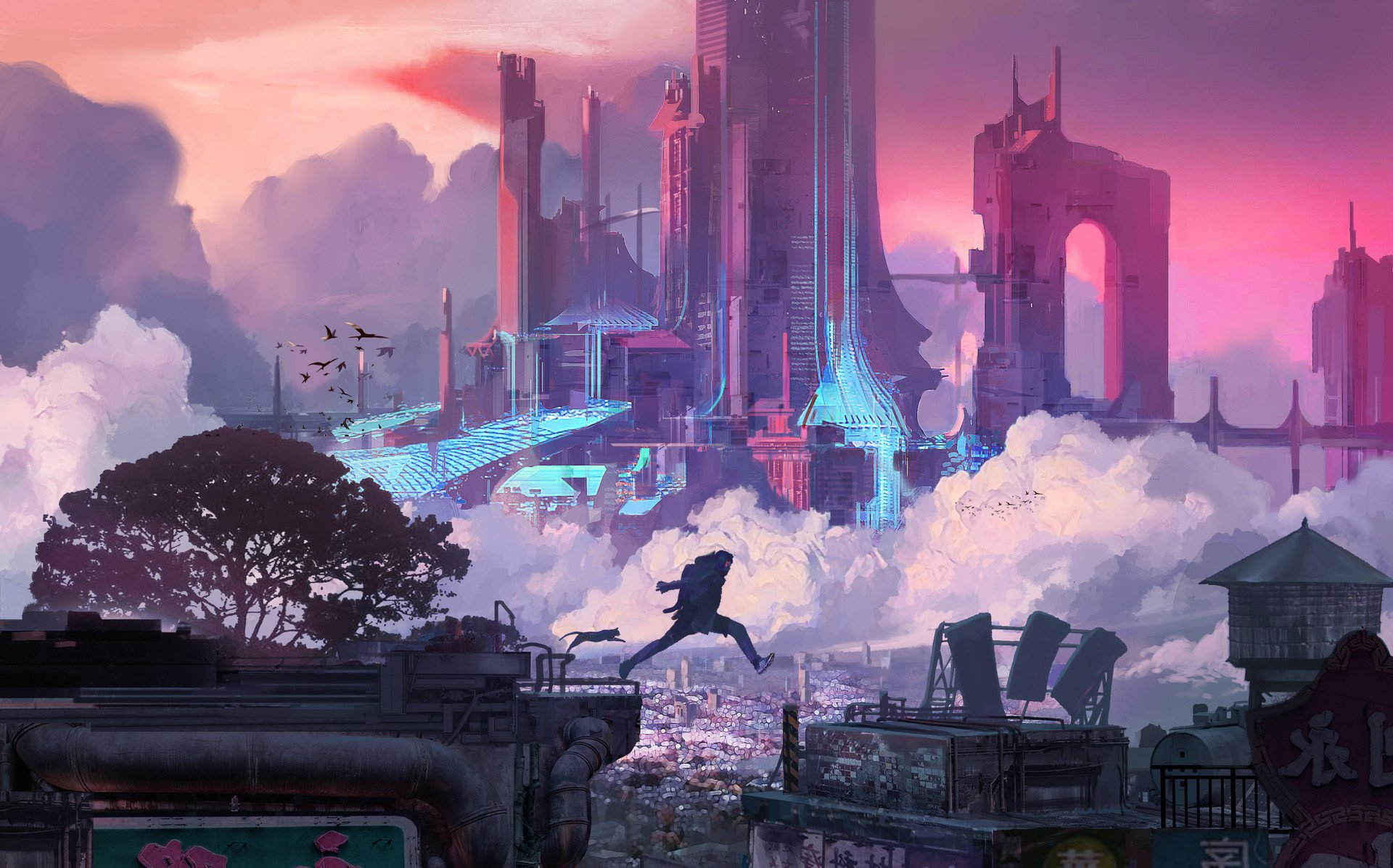 Cyber City HD Wallpaper   Background Image   1920x1197 ...