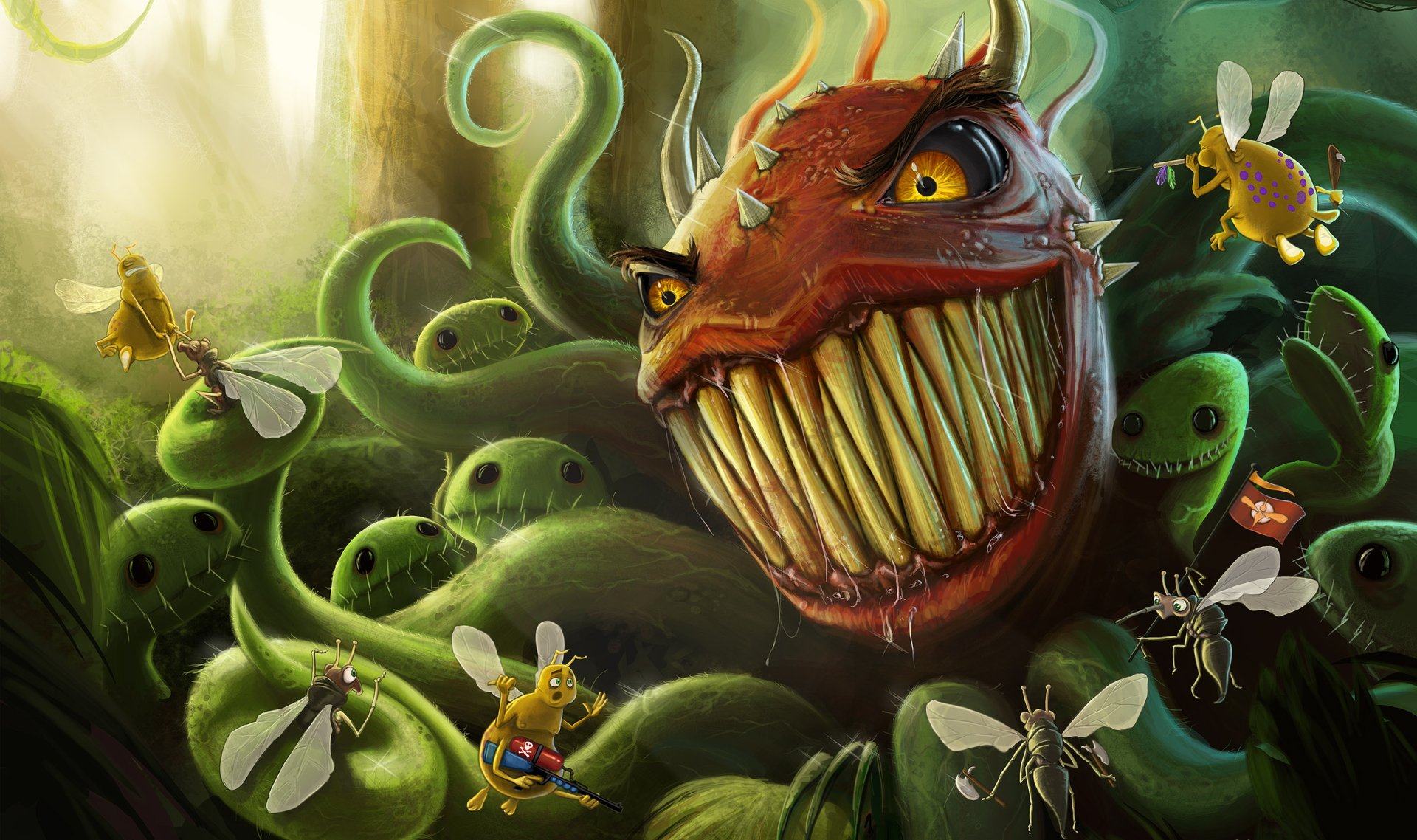 CGI - Fantasy  Bosque Wallpaper