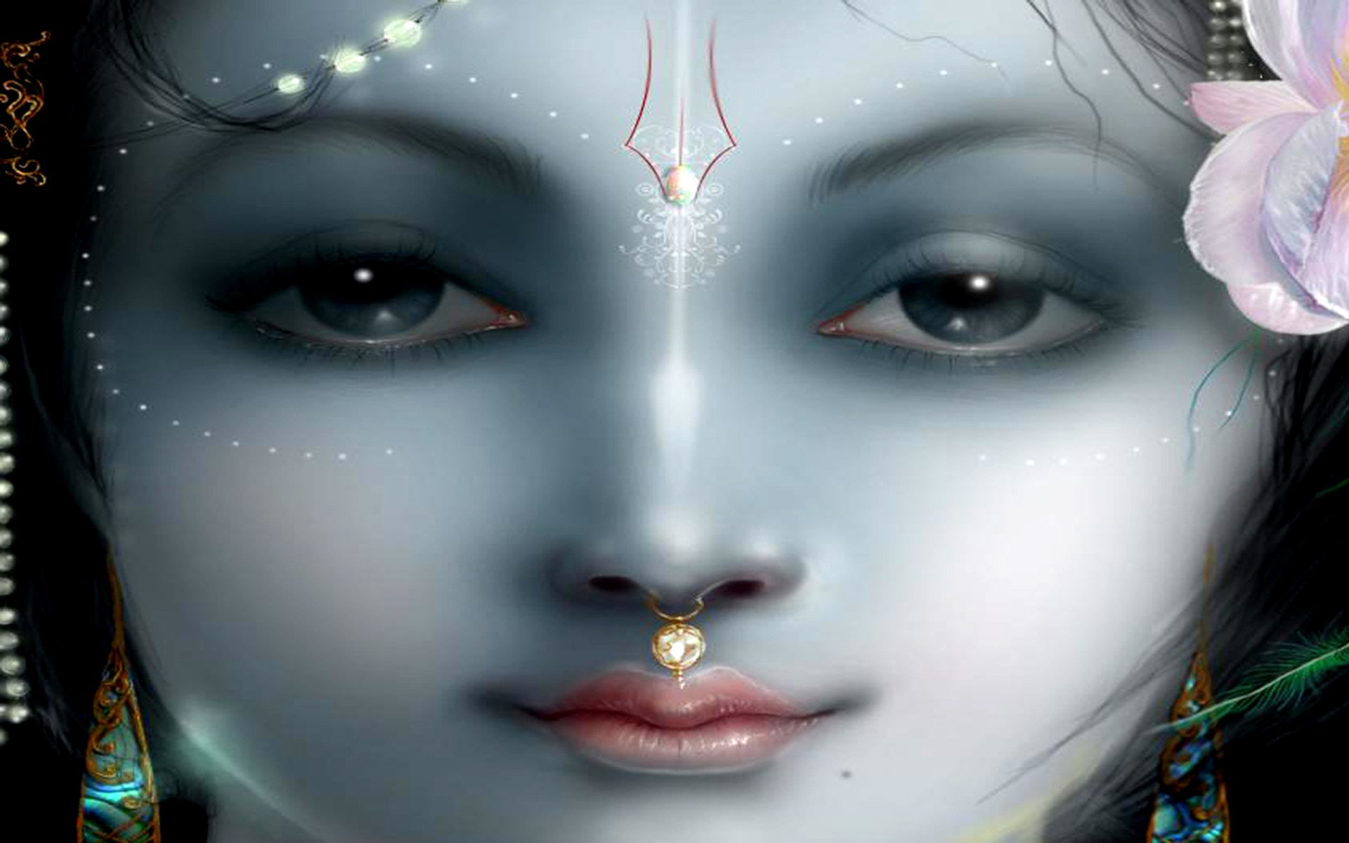Religious - Hinduism  Gods Lord Krishna Wallpaper