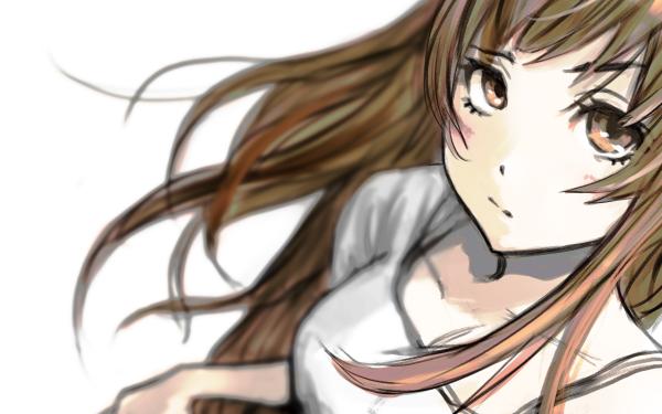 Anime Original Brown Hair Brown Eyes Fondo de pantalla HD   Fondo de Escritorio