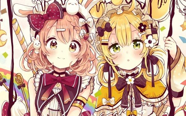 Anime Original Rubia Green Eyes Yellow Eyes Pink Hair Fondo de pantalla HD   Fondo de Escritorio