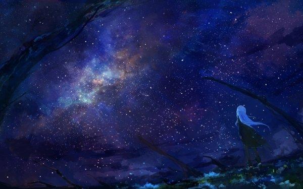 Anime Original Starry Sky HD Wallpaper   Background Image