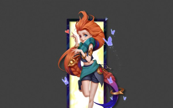 Video Game League Of Legends Zoe Long Hair Braid Orange Hair Heterochromia HD Wallpaper | Background Image