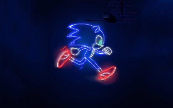 Películas Sonic the Hedgehog Sonic Neón Fondo de pantalla HD | Fondo de Escritorio