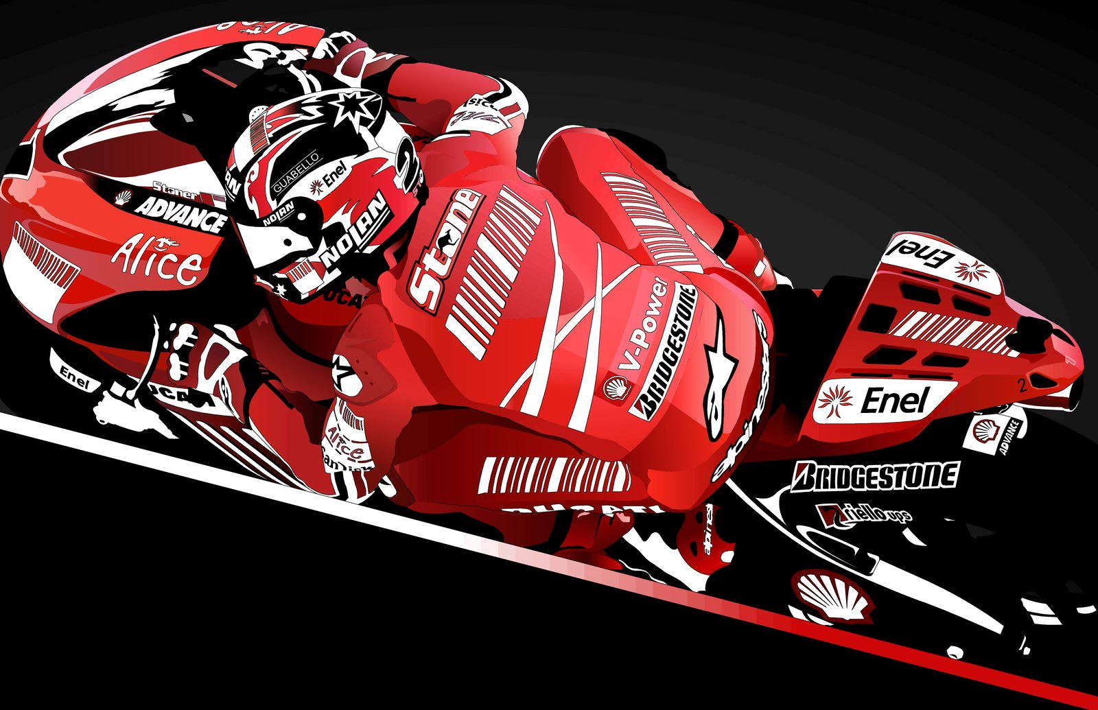 Casey Stoner Gp08 Wallpaper And Background Image