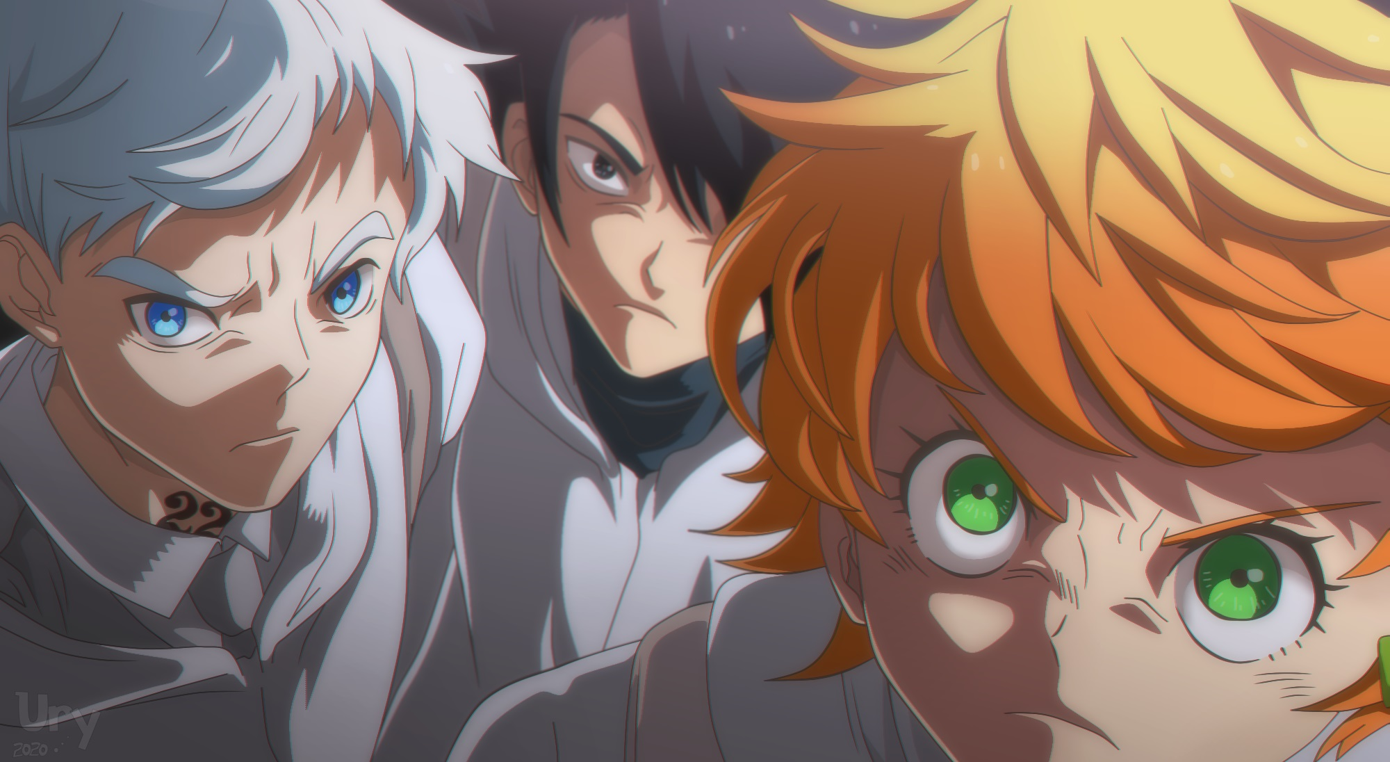 Norman, Ray y Emma (the promised neverland)