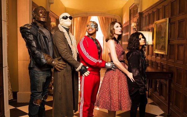 TV Show Doom Patrol Diane Guerrero Crazy Jane Robotman April Bowlby Elasti-Girl Negative Man Joivan Wade Cyborg HD Wallpaper | Background Image